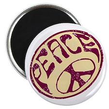 Distressed Peace Symbol #V12 Magnet
