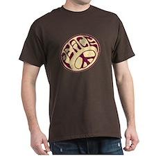 Distressed Peace Symbol #V12 T-Shirt