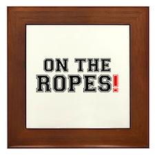ON THE ROPES! Framed Tile