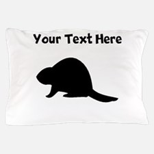 Beaver Silhouette Pillow Case