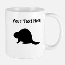 Beaver Silhouette Mugs