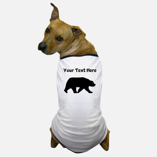 Bear Walking Silhouette Dog T-Shirt