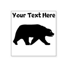 Bear Walking Silhouette Sticker