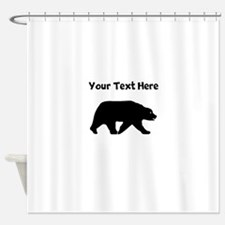 Bear Walking Silhouette Shower Curtain