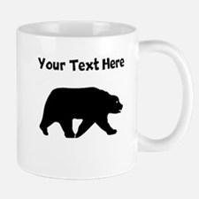 Bear Walking Silhouette Mugs