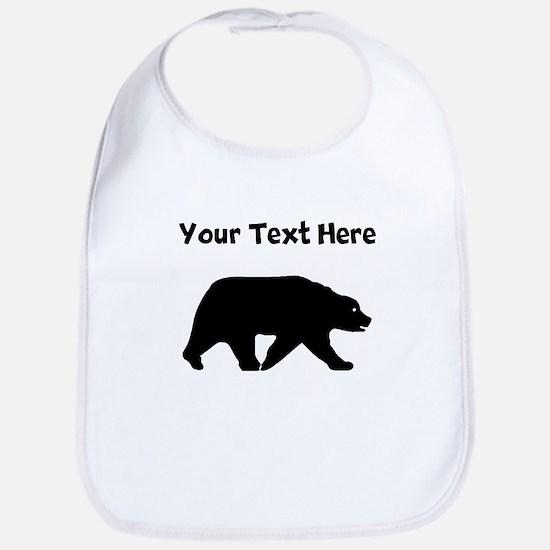 Bear Walking Silhouette Bib