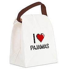 I Love Pajamas Canvas Lunch Bag
