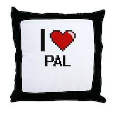 I Love Pal Throw Pillow