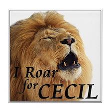 I Roar for Cecil Tile Coaster