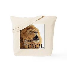 I Roar for Cecil Tote Bag