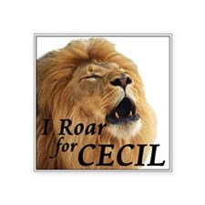"I Roar for Cecil Square Sticker 3"" x 3"""