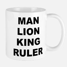 Man Lion King Ruler White Small Mug Mugs