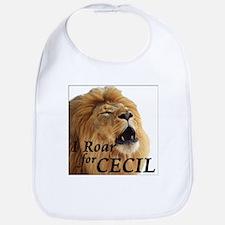 I Roar for Cecil Bib