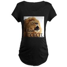I Roar for Cecil Maternity T-Shirt