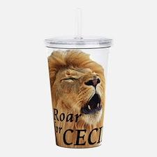 I Roar for Cecil Acrylic Double-wall Tumbler