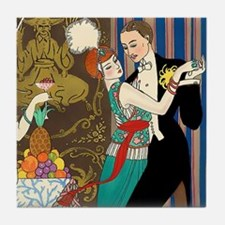 Barbier Tango Romance Tile Coaster