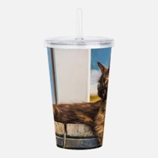 Brown Cat 1 Acrylic Double-wall Tumbler