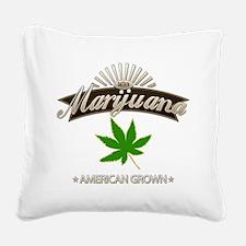 Smoking American Grown Mariju Square Canvas Pillow
