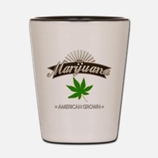 Smoking American Grown Marijuana Shot Glass