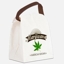 Smoking American Grown Marijuana Canvas Lunch Bag