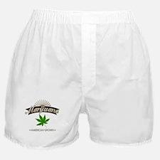 Smoking American Grown Marijuana Boxer Shorts