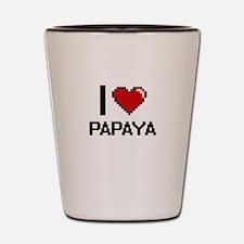 I Love Papaya Shot Glass