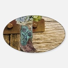 flower western country cowb Decal