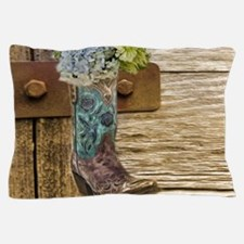 flower western country cowboy boots Pillow Case