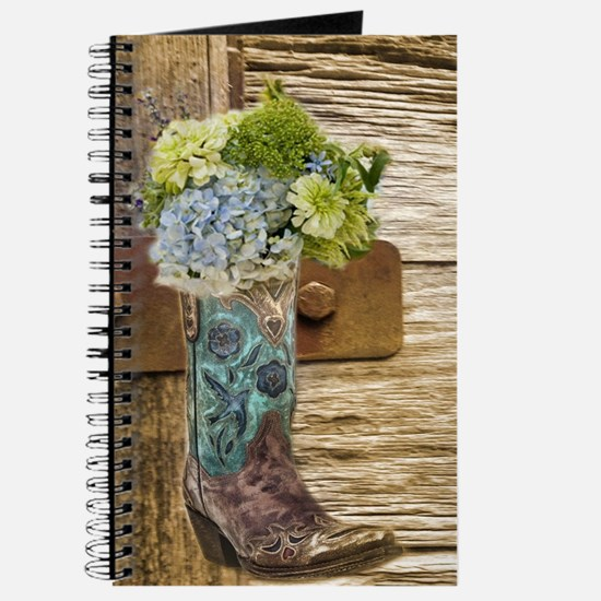 flower western country cowboy boots Journal