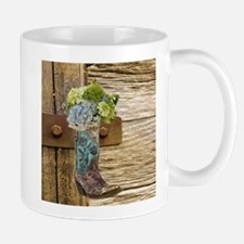 flower western country cowboy boots Mugs