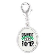 Liver Disease  Silver Oval Charm