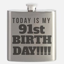 Today Is My 91st Birthday Flask