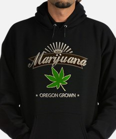 Smoking Oregon Grown Marijuana Hoodie (dark)