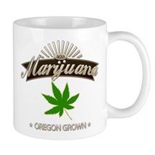 Smoking Oregon Grown Marijuana Small Mug