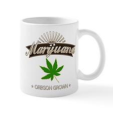 Smoking Oregon Grown Marijuana Small Mugs