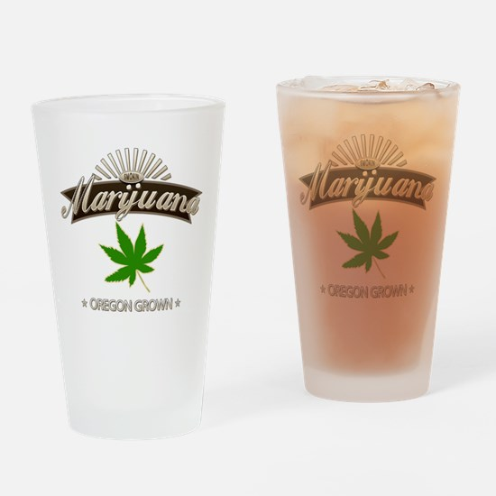 Smoking Oregon Grown Marijuana Drinking Glass