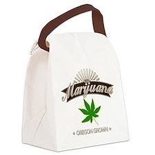 Smoking Oregon Grown Marijuana Canvas Lunch Bag