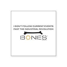 "Bones Revolution Square Sticker 3"" x 3"""