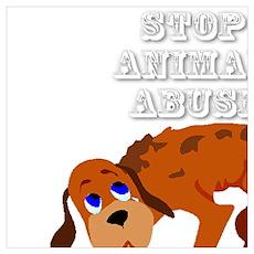 Stop Animal Abuse Awareness Poster