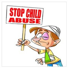 Stop Child Abuse Awareness Canvas Art