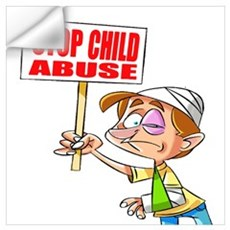 Stop Child Abuse Awareness Wall Decal
