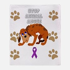 Cute Animal abuse Throw Blanket