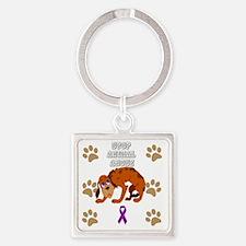 Unique Animal cruelty Square Keychain