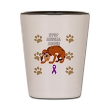 Cute Stop domestic violence abuse awareness Shot Glass