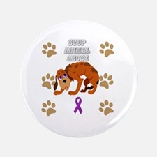 Cute Animal abuse Button