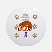 Cute Animal protection Round Ornament