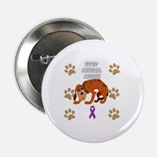 """Funny Animal abuse 2.25"""" Button"""