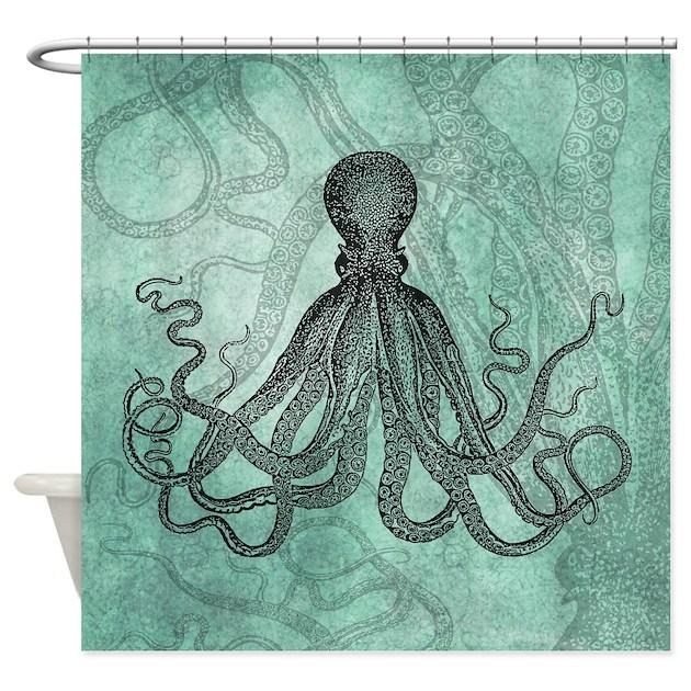 Octopus Shower Curtain By Izmetsdream