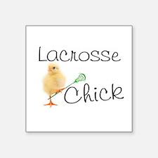 Lacrosse Chick Sticker