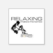 "Bones Relaxing Square Sticker 3"" x 3"""
